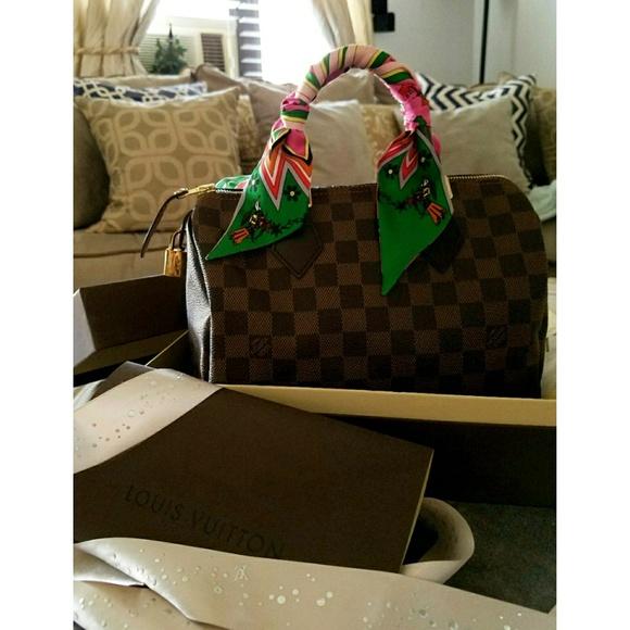 482e2eef9d Louis Vuitton Handbags - ❤ LOUIS VUITTON Damier Ebene Speedy 25❤